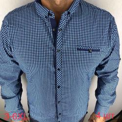 Рубашки мужские ПОЛУБАТАЛ VARETTI оптом 28534106 05-65