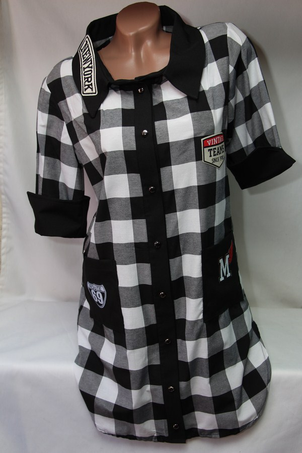 Рубашки - туники женские оптом 22033038 942-3