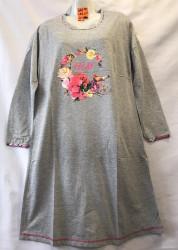 Ночные рубашки женские на байке БАТАЛ оптом 31805426 S07-5