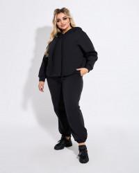 Спортивные костюмы женские с начесом БАТАЛ оптом 91234785 01-5