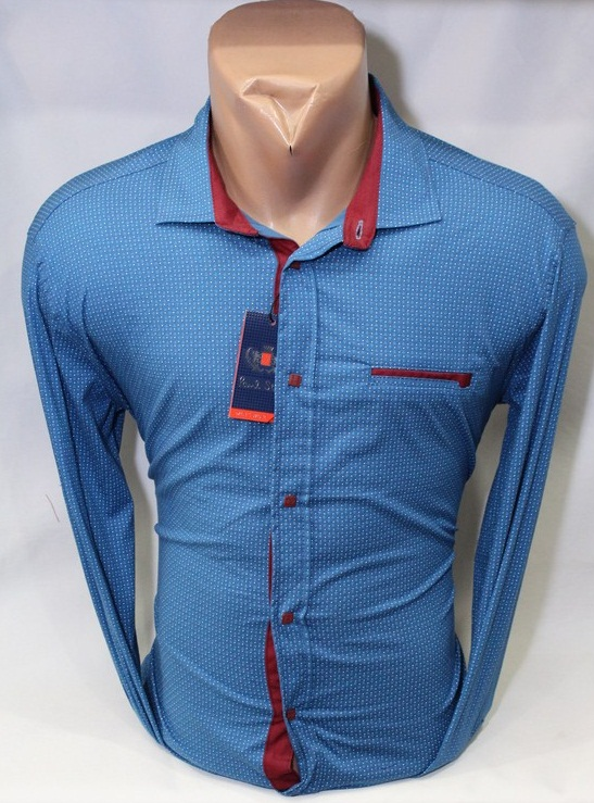 Рубашки PAUL STAR мужскиеТурция оптом 89342150