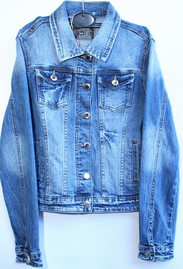 Куртки джинсовые женские DIMONI оптом 93127584 1091