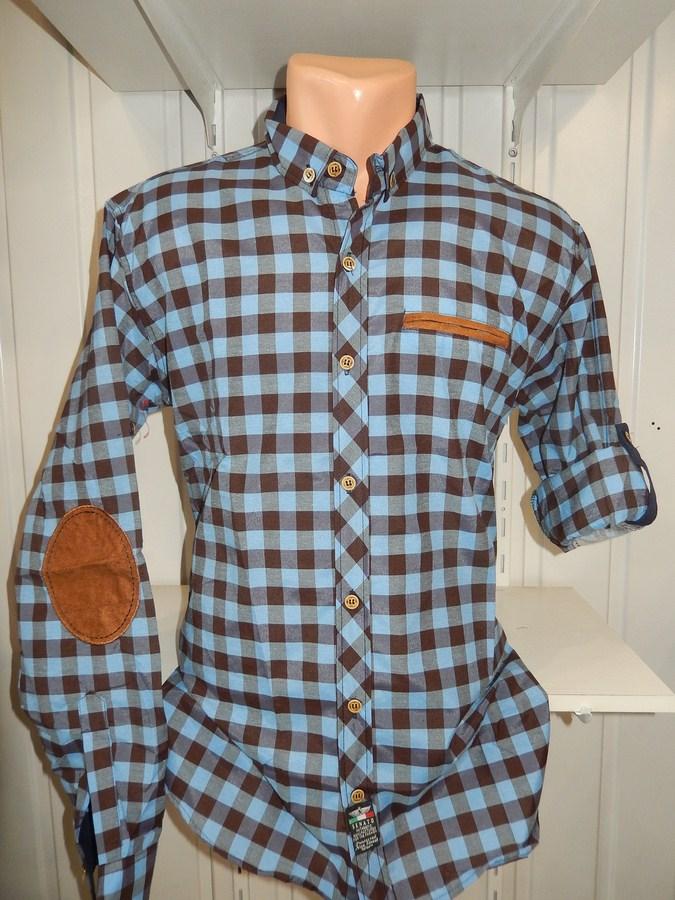 Рубашки мужские полу батал оптом 13081830 5210-16