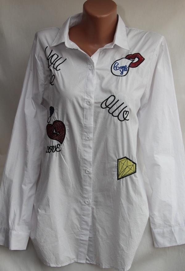 Рубашки женские оптом 17081056 18-1