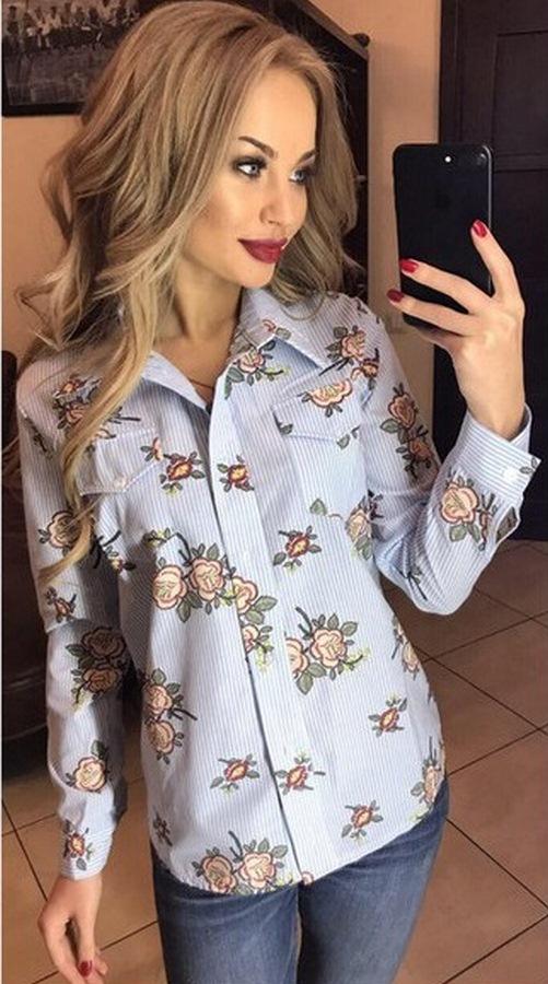 Рубашки женские оптом 12704398 011-1