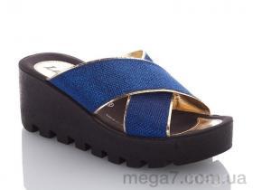 Шлепки, DeMur оптом W777-19 blue-gold