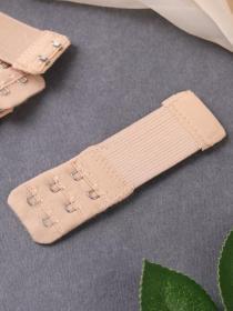 Застежка удлинитель для бюстгальтера на два крючка 02 (  бежевый  10 шт. )