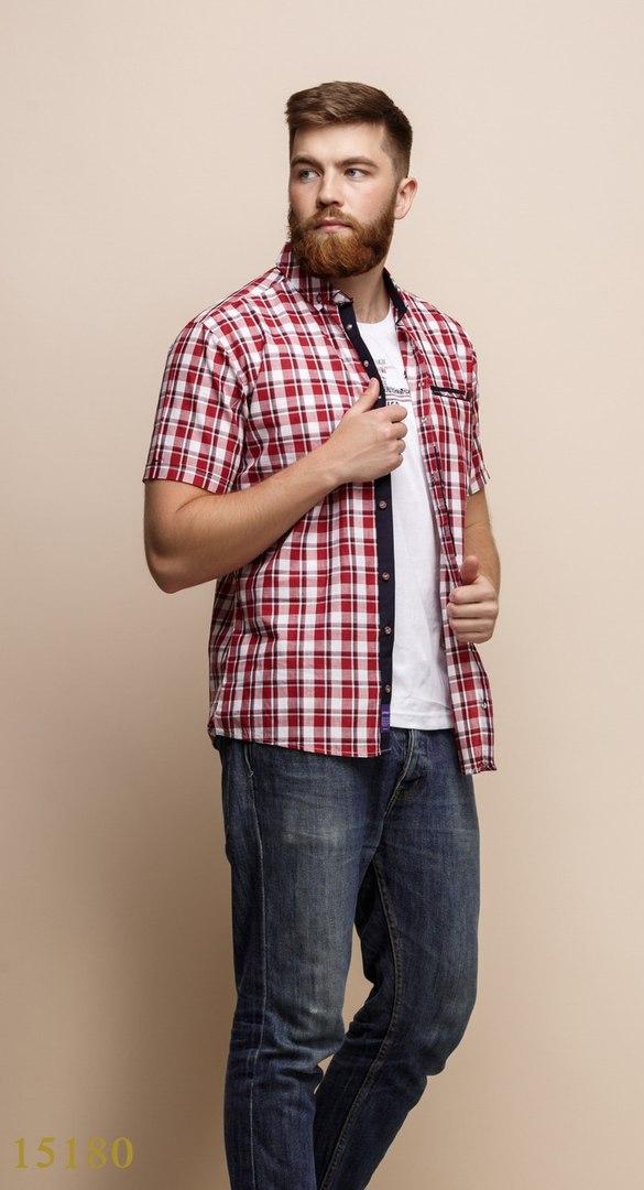 Рубашки с майкой обманкой мужские Турция оптом  1206133 15180