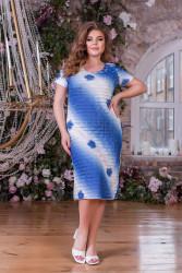 Платья женские БАТАЛ оптом 81342509 01-3