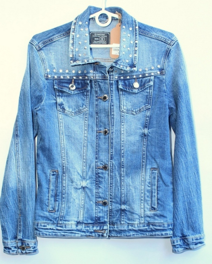 Куртки джинсовые женские DIMONI оптом 57286913 1092
