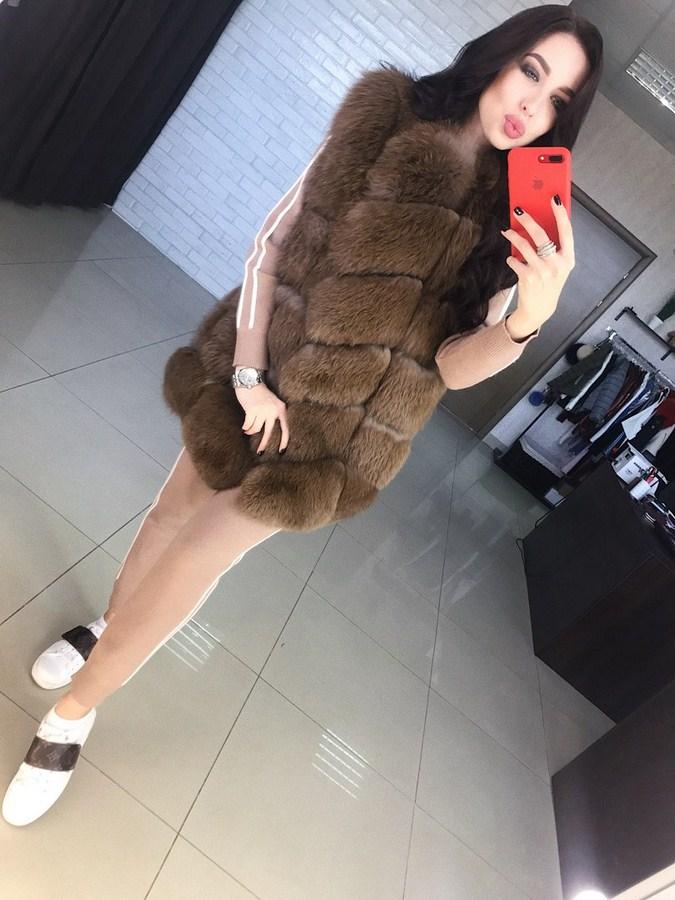 Купить жилетки меховые женские оптом 97524310 4789