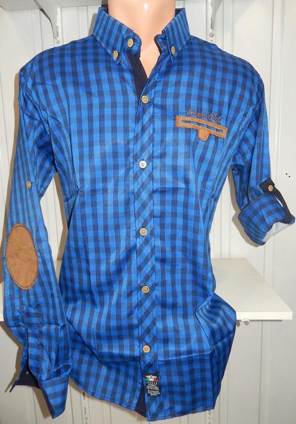 Рубашки мужские полу батал оптом 13081830 5210-11