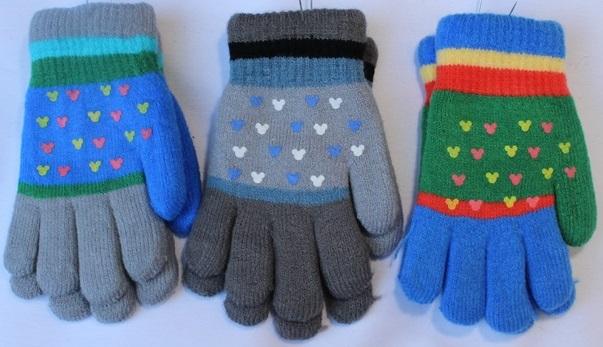 Перчатки детские ( на девочек ) оптом 16872409 С7127-1