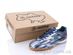 Футбольная обувь, Restime оптом DMB21419 navy-silver