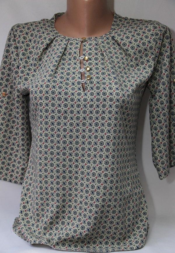 Блуза женская батал оптом  20033001 6099-49