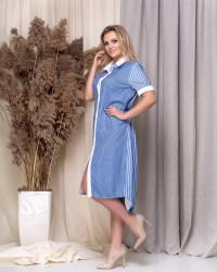 Платья-рубашка женские ПОЛУБАТАЛ оптом 43615982  2073-3
