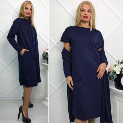 Платья женские (2ка) БАТАЛ оптом 72516890 47-13